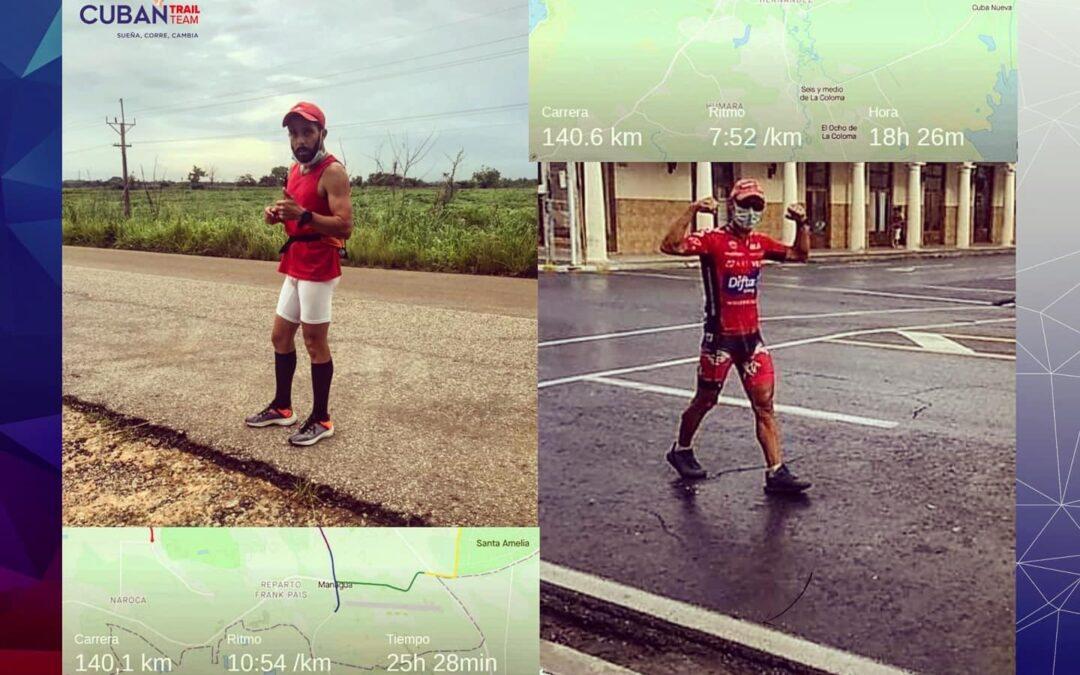 Rafael León y Luis Edel Iglesias completan ultramaratón en Cuba